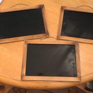Set of 3 Mini Chalkboards